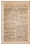 Political:Small Paper (pre-1896), Winfield Scott: 1852 Pamphlet....