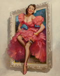Pin-up and Glamour Art, Gil Elvgren (American, 1914-1980). Stepping Out, 1953. Oilon canvas. 30 x 24 in.. Signed lower center. ...