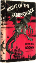 Books:Horror & Supernatural, Frederic Brown. Night of the Jabberwock. New York: E. P.Dutton & Company, Inc. Publishers, 1950. ...