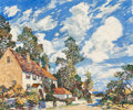Fine Art - Painting, American:Modern  (1900 1949)  , Walter Elmer Schofield (American, 1867-1944). SummerAfternoon. Oil on canvas. 40-1/2 x 48 inches (102.9 x 121.9cm). Si...