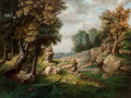 Fine Art - Painting, American:Antique  (Pre 1900), George Inness (American, 1825-1894). Rocky Dell (Near theVillage), circa 1849-1850. Oil on canvas. 31-3/4 x 42 inches(...