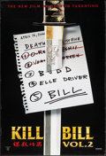 "Movie Posters:Action, Kill Bill: Vol. 2 (Miramax, 2004). One Sheet (27"" X 40"") SS Advance List Style. Action.. ..."