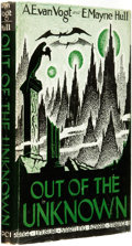 Books:Science Fiction & Fantasy, A[lfred E[lton] Van Vogt. INSCRIBED. E[dna] Mayne Hull (co-author).Out of the Unknown. Los Angeles, California:...