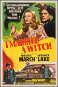 """Movie Posters:Fantasy, I Married a Witch (Masterpiece Productions, R-1948). One Sheet (27"""" X 41""""). Fantasy.. ..."""