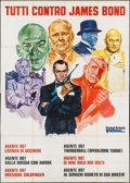 """Movie Posters:Action, Everybody Against James Bond (United Artists, 1972). Italian 4 - Fogli (55"""" X 77.25""""). Action.. ..."""