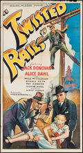 """Movie Posters:Adventure, Twisted Rails (Imperial, 1934). Three Sheet (41"""" X 76.75"""").Adventure.. ..."""