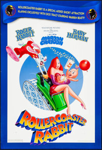 "Rollercoaster Rabbit & Other Lot (Buena Vista, 1990). One Sheets (2) (27"" X 40"") DS. Animation. ... (T..."