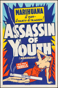 "Assassin of Youth (Roadshow, 1937). One Sheet (28"" X 42.5""). Exploitation"
