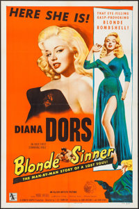 "Blonde Sinner (Allied Artists, 1956). One Sheet (27"" X 41""). Bad Girl"