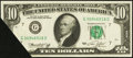 Error Notes:Foldovers, Fr. 2022-G $10 1974 Federal Reserve Note. About Uncirculated.. ...