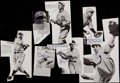 Baseball Collectibles:Others, Baseball Greats Signed Cut Images Lot of 7....