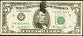 Error Notes:Ink Smears, Fr. 1976-F $5 1981 Federal Reserve Note. Fine.. ...