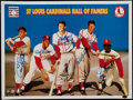 Baseball Collectibles:Photos, St. Louis Cardinals Hall of Famers Multi Signed Print....