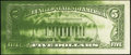 Error Notes:Ink Smears, Fr. 1978-J $5 1985 Federal Reserve Note. Extremely Fine-AboutUncirculated.. ...