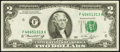 Error Notes:Shifted Third Printing, Fr. 1935-F $2 1976 Federal Reserve Note. Very Fine.. ...