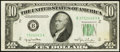 Error Notes:Obstruction Errors, Fr. 2010-B $10 1950 Federal Reserve Note. About Uncirculated.. ...