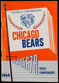 Football Collectibles:Publications, 1964 Chicago Bears Media Guide....