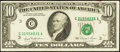 Error Notes:Ink Smears, Fr. 2025-C $10 1981 Federal Reserve Note. Fine-Very Fine.. ...
