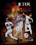 Baseball Collectibles:Photos, Derek Jeter Signed Oversized Photograph. ...