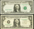 Error Notes:Obstruction Errors, Missing Seals $1 FRNs.. ... (Total: 2 notes)