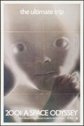 "Movie Posters:Science Fiction, 2001: A Space Odyssey (MGM, 1970). One Sheet (27"" X 41"") Style D. Science Fiction.. ..."