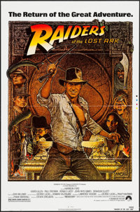 """Raiders of the Lost Ark (Paramount, R-1982). Printer's Proof One Sheet (27"""" X 41""""). Adventure"""