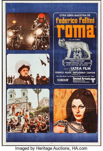 Fellini S Roma United Artists 1972 Argentinean One Sheet