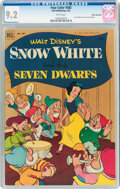 Golden Age (1938-1955):Adventure, Four Color #382 Snow White and the Seven Dwarfs - White Mountain Pedigree (Dell, 1952) CGC NM- 9.2 White pages....