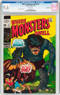 Bronze Age (1970-1979):Horror, Where Monsters Dwell #9 White Mountain Pedigree (Marvel, 1971) CGCNM+ 9.6 White pages....
