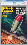 Golden Age (1938-1955):Science Fiction, Classics Illustrated #105 From the Earth to the Moon - FirstEdition - White Mountain Pedigree (Gilberton, 1953) CGC VF/NM9.0...