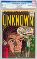 Golden Age (1938-1955):Horror, Adventures Into The Unknown #63 White Mountain Pedigree (ACG, 1955)CGC VF+ 8.5 Off-white to white pages....