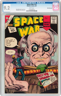 Space War #12 White Mountain Pedigree (Charlton, 1961) CGC NM- 9.2 White pages