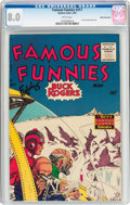 Golden Age (1938-1955):Science Fiction, Famous Funnies #217 White Mountain Pedigree (Eastern Color, 1955)CGC VF 8.0 White pages....