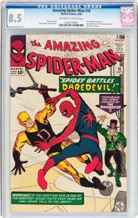 The Amazing Spider-Man #16 (Marvel, 1964) CGC VF+ 8.5 Off-white to white pages
