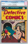 Golden Age (1938-1955):Superhero, Detective Comics #106 (DC, 1945) CGC VF/NM 9.0 Off-white to white pages....
