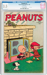 Peanuts #1 (United Features Syndicate, 1953) CGC VG- 3.5 Off-white pages