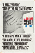 "Movie Posters:Foreign, The War Is Over (Brandon, 1967). One Sheet (27"" X 41"") Review Style. Foreign. Original Title: La Guerre Est Finie.. ..."