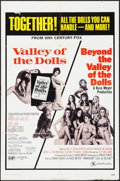 """Movie Posters:Exploitation, Valley of the Dolls/Beyond the Valley of the Dolls Combo (20th Century Fox, R-1971). One Sheet (27"""" X 41""""). Exploitation.. ..."""
