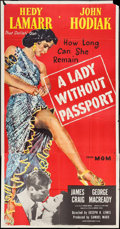 """Movie Posters:Film Noir, A Lady without Passport (MGM, 1950). Three Sheet (41"""" X 79""""). FilmNoir.. ..."""
