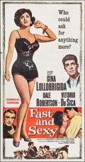 """Movie Posters:Foreign, Fast and Sexy (Columbia, 1960). Three Sheet (41"""" X 78""""). Foreign.. ..."""
