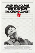 "Movie Posters:Academy Award Winners, One Flew Over the Cuckoo's Nest (United Artists, 1975). One Sheet (27"" X 41""). Pre-Academy Award Style. Drama.. ..."
