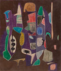 Post-War & Contemporary:Abstract Expressionism, Conrad Marca-Relli (1913-2000). Untitled. Oil on canvas.13-3/4 x 11-3/4 inches (35.1 x 29.8 cm). Signed lower left:C...