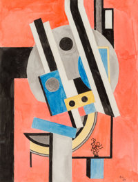 Fernand Léger (1881-1955) Composition, 1925 Watercolor on paper 14 x 10-3/4 inches (35.6 x 27.3 c