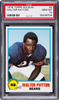 Football Cards:Singles (1970-Now), 1978 Holsum Walter Payton #2 PSA Gem Mint 10 - Pop Two. ...