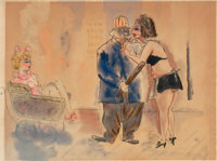 George Grosz (1893-1959) Untitled (Policeman and Prostitutes), 1932 Ink and gouache on paper 18-3