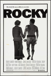 "Rocky (United Artists, 1977). One Sheet (27"" X 41""). Academy Award Winners"