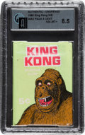 Non-Sport Cards:Sets, 1965 King Kong Wax Pack GAI NM-MT+ 8.5...