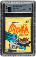 "Non-Sport Cards:Unopened Packs/Display Boxes, 1966 Topps Batman ""Riddler Backs"" 5-Cent Wax Pack GAI Mint 9. ..."
