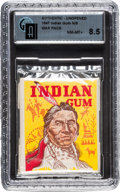 """Non-Sport Cards:Unopened Packs/Display Boxes, Scarce 1947 Goudey """"Indian Gum"""" Unopened Wax Pack GAI NM-MT+ 8.5...."""