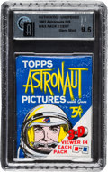 "Non-Sport Cards:Unopened Packs/Display Boxes, 1963 Topps ""Astronauts"" 5-Cent Wax Pack GAI Gem Mint 9.5. ..."
